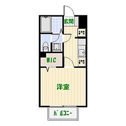 エルボヌール[2階]の間取り
