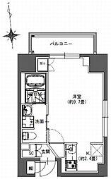 S-RESIDENCE東神田 4階1Kの間取り