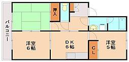 サンハイツ松ヶ丘[1階]の間取り