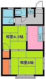 王子荘[9号室]の間取り