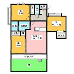 モン・シェリ[1階]の間取り