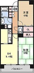 パインフィールド西京極[306号室号室]の間取り