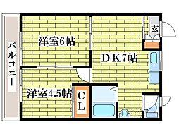 コスモテラス[2階]の間取り