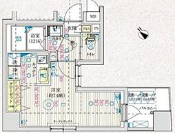 都営三田線 千石駅 徒歩5分の賃貸マンション 7階1Kの間取り