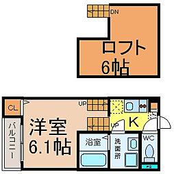 アーク東海通 (アークトウカイドオリ)[1階]の間取り