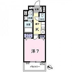 東京都練馬区田柄5丁目の賃貸マンションの間取り