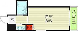 Osaka Metro今里筋線 清水駅 徒歩6分の賃貸マンション 4階ワンルームの間取り
