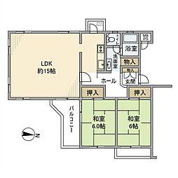東急ドエル宮前平ビレジA[4階]の間取り