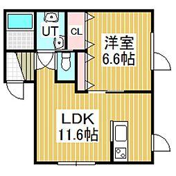 ジェーハイツ元中野No.3[102号室]の間取り