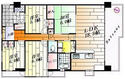 ルネシーズンズ千里の丘8番館[3階]の間取り