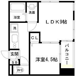ベルデフラッツ新大阪[2階]の間取り
