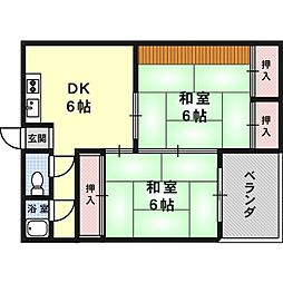 三和マンション[3階]の間取り