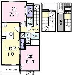 メゾンド シュシュ セントラル[3階]の間取り