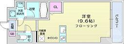 JR仙山線 東北福祉大前駅 徒歩13分の賃貸マンション 5階ワンルームの間取り
