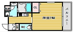 エイペックス京町堀[9階]の間取り