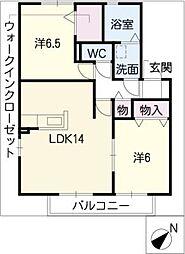 グリーンヒル新宿[2階]の間取り