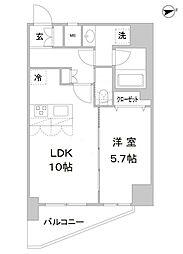 アスール北上野[11階]の間取り