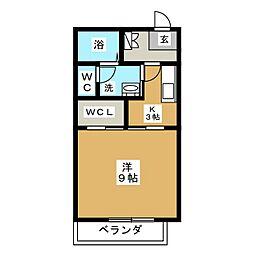 レクエルドサオリII A棟[1階]の間取り