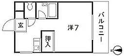 第10田中興産ビル[302号室]の間取り