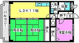 シャルマン那珂川[3階]の間取り