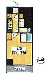 SHOKEN Residence東京八広 6階1Kの間取り