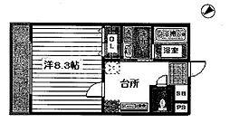 京都府京都市東山区今小路町の賃貸マンションの間取り