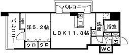 福岡県福岡市中央区清川1丁目の賃貸マンションの間取り