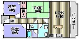 ヒュースー丘弐番館[208号室]の間取り