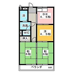 清水住宅ビル[5階]の間取り