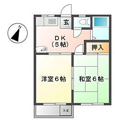 コーポYOU[2階]の間取り