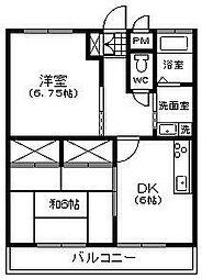 冨田マンション[301号室]の間取り