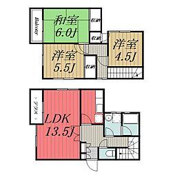 [タウンハウス] 千葉県千葉市若葉区みつわ台4丁目 の賃貸【千葉県 / 千葉市若葉区】の間取り