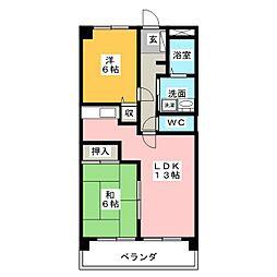 パザパ[5階]の間取り