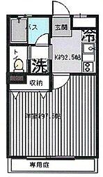 東京都文京区本駒込2丁目の賃貸マンションの間取り
