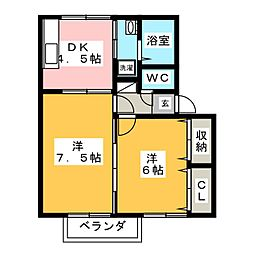 レフィナード[2階]の間取り