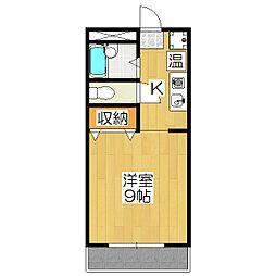 サンハイム橋本[2階]の間取り