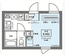都営大江戸線 新御徒町駅 徒歩3分の賃貸マンション 1階ワンルームの間取り