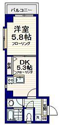 プレミール中野[3階]の間取り