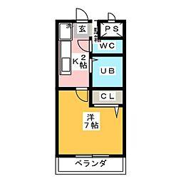 ヒサゴハイツⅠ[3階]の間取り