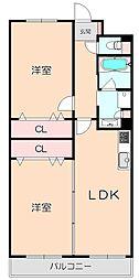 LUXE北桜塚[202号室]の間取り