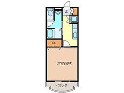 キャピタル[1階]の間取り