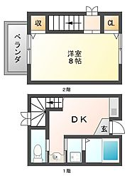 セーブル六本松南[1階]の間取り