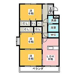 ファームガーデン B[1階]の間取り