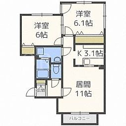 9TH'CLOUD[2階]の間取り