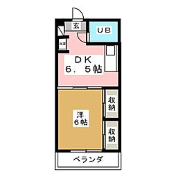 第二コーポラスヒロタ[2階]の間取り