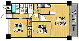 ルミウス88[2階]の間取り