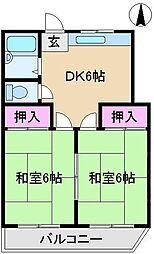 メゾン森I[3階]の間取り