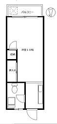 サトウマンション[3階]の間取り
