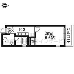 ドーリアKYOTO大宮[4-A号室]の間取り