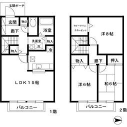 [テラスハウス] 兵庫県西宮市薬師町 の賃貸【/】の間取り